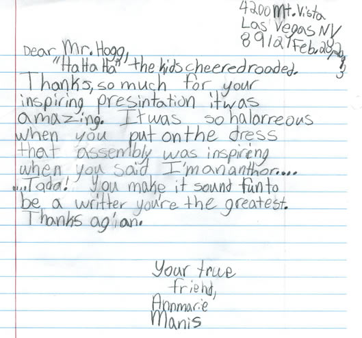 Letter To Students.Letters From Students Teachers And Principals Gary Hogg