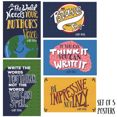 set of 5 gary hogg quote posters gary hogg author of children s